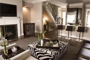 Стильная гостиная и спальня