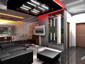 установка светодиодов при декоративной подсветке подвесного потолка