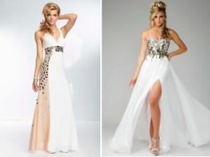 красивые белые коктейльные платья