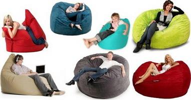 Удобная бескаркасная мебель
